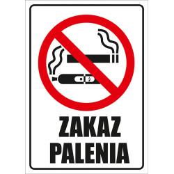 Tabliczka informacyjna A5 Zakaz Palenia
