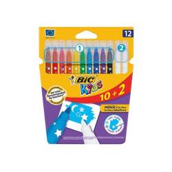 Flamastry Bic Kids Couleur Erase 10 kolorów + 2 wymazywacze
