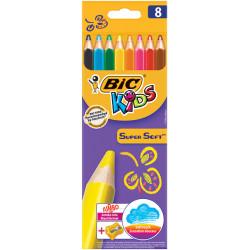 Kredki ołówkowe Kids Super Soft 8 kolorów + temperówka
