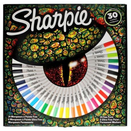 Zestaw Sharpie Fine Markery PERMANENTNE OKO 30kol