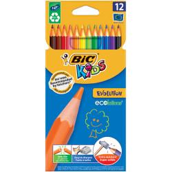 Kredki ołówkowe Evolution Bic Kids 12 kolorów