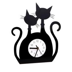 Zegar Ścienny Nowoczesny Plexi Kot 28x32cm