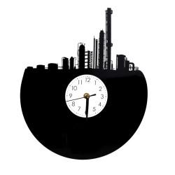 Zegar Ścienny Nowoczesny Plexi Miasto 20x35cm