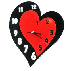 Zegar Ścienny Nowoczesny Plexi Serce 20x35cm