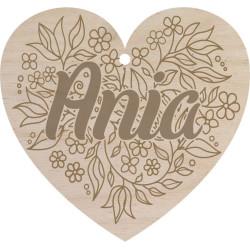 Walentynka zawieszka serce Z GRAWEREM