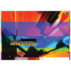 Blok techniczny A4 10k kolorowy Interdruk