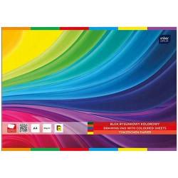 Blok rysunkowy A4 20k kolorowy Interdruk