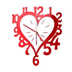 Zegar Ścienny Nowoczesny Plexi Serce 32X36cm
