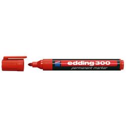 Marker permanentny EDDING 300 kolor czerwony