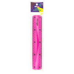 Linijka elastyczna 30cm różowa Strigo SSC010