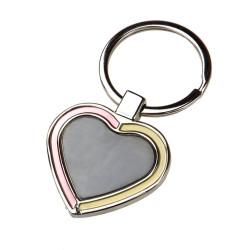 Brelok metalowy serce R73196