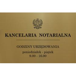 Tabliczka na drzwi grawer biuro, kancelaria notarialna 29x18