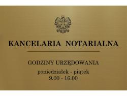 Tabliczka na drzwi grawer biuro, kancelaria notarialna 30x20