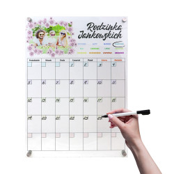 Kalendarz Tablica Planer do ścierania 30x42cm+ markery
