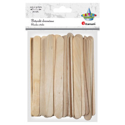 Patyki drewniane kreatywne naturalne 113x9cm