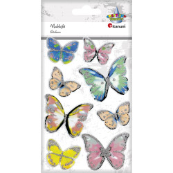 Motyle naklejki dekoracja z brokatem