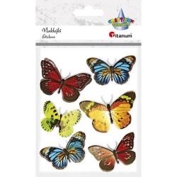 Naklejka motyle 3D dekoracja scrabooking