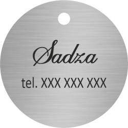 Identyfikator dla PSA KOTA zawieszka adresówka srebrna