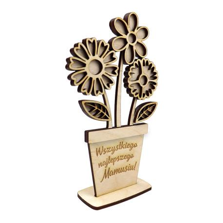 Dzień Mamy Statuetka kwiat decupage prezent