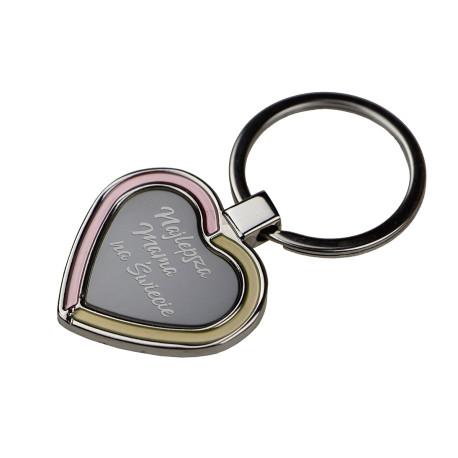 Brelok metalowy serce R73196 grawer Dzień mamy prezent