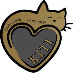 Tabliczka na nagrobek dla kota grawer laminat
