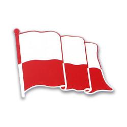 FLAGA Polski pins grawer 5x4cm na magnes