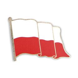 FLAGA Polski pins nadruk złoty 5x4cm na magnes